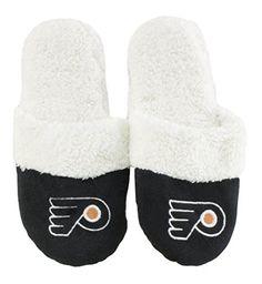 NHL Womens Sherpa Slide Slippers