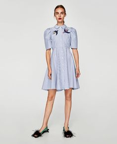 a8d1e9b4f4f83 STRIPED AND EMBROIDERED SHIRT DRESS - COLLECTION-SALE-WOMAN