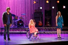 The Glee Project Season 2 contenders Aylin Bayramoglu (r) and Ali Stroker (c) with Season 2 winner Blake Jenner (l). Read my recap here: http://musicalangel12.blogspot.com/2012/08/the-glee-project-this-is-our-show.html