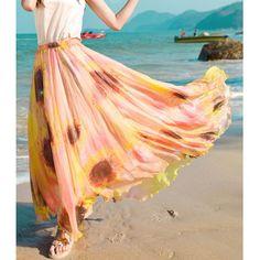Bohemian Sunflower Print Ankle-Length Skirt For Women #women, #men, #hats, #watches, #belts, #fashion