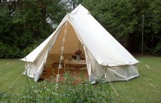 canvas tent | advantage of canvas is that it remains much cooler than a nylon tent ...