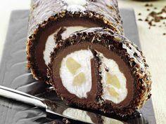 Foto del tronchetto cioccolato e cocco