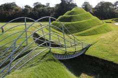 From 2003 to 2010, landscape artist Charles Jencks developed this amazing project entitled Cells of Life. It was completed as part of Jupiter Artland, a privately-owned sculpture park in Edinburgh. The project includes eight landforms and a connecting causeway developed within the incredible outdoor space.