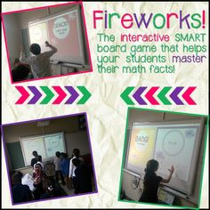 Fireworks is an interactive whiteboard game designed to help students master their math facts!Students can play against a partner or with teams. The game flips through cards automatically as students answer questions about their math facts. The game even keeps score and announces the winner at the end!Fully customize the game by choosing which facts are included (0-12) and the time played (any amount of seconds or minutes)!