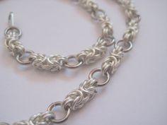 Silvertone Byzantine Chainmail Necklace by BinarySoul on Etsy
