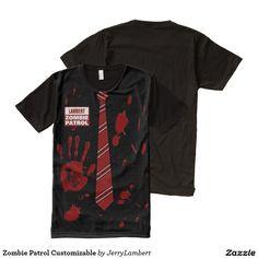 Zombie Patrol Customizable All-Over Print Shirt