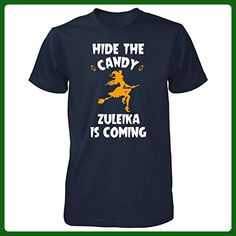 Hide The Candy Zuleika Is Coming Halloween Gift - Unisex Tshirt Navy 3XL - Holiday and seasonal shirts (*Amazon Partner-Link)