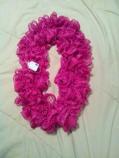 Hot Pink Infinity Ruffle Scarf by HopkinsHomemadeTrea on Etsy