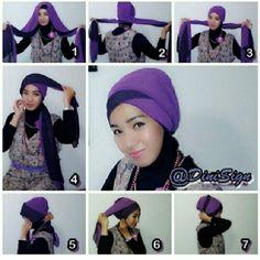 2 tones shawl turban