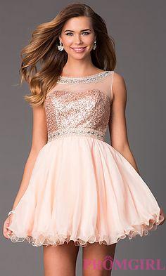 Illusion Sweetheart Babydoll Dress by Hannah S at PromGirl.com