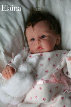 Elaina is a Solid Platiunum Silicone Doll by Donna Lee Originals