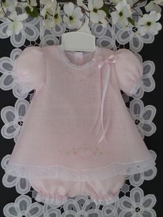 Embroidered Baby Linen Dress and Panty Cover by justforbabyonetsy, $53.00