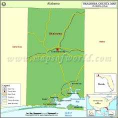Okaloosa County Map
