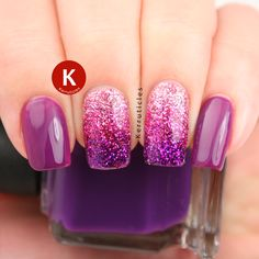 """<a href=""""http://www.kerruticles.com/2014/11/three-colour-loose-glitter-gradient/"""">Pink and purple loose glitter gradient</a>"""