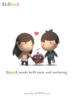 Check out the comic HJ-Story :: Care and Nurturing Cartoon Love Quotes, Cute Love Cartoons, True Love Quotes, Hj Story, I Love You Honey, Love Is Sweet, Cute Love Stories, Love Story, Work Motivational Quotes