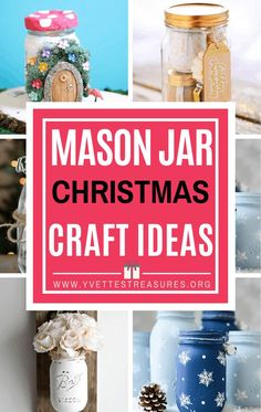 Best mason jar Christmas crafts for family and friends. Make one for your home or give as a DIY mason jar gift. #masonjarchristmascrafts #masonjargifts #crafts #christmascraftideas #easydiychristmascrafts #yvettestreasures #craftsforkids #homedecor