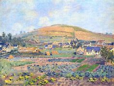 The Mount Riboudet in Rouen at Spring, 1872, Claude Monet
