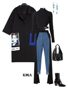 """Simple."" by fashionoise ❤ liked on Polyvore featuring Thierry Mugler, Hellessy, Balenciaga and Jiwinaia"