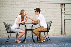 cute engagement pic idea- ice cream!