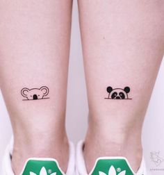 80 Adorable Ankle Tattoos That All Deserve Oscars Straight Blasted Disney Tattoo Tiny Tattoos For Girls, Tattoos For Women Small, Tattoos For Guys, Small Bff Tattoos, Cute Tiny Tattoos, Awesome Tattoos, Mini Tattoos, Koala Tattoo, Cute Animal Tattoos