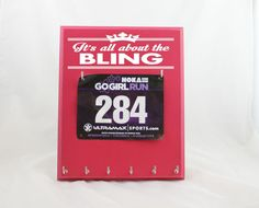 Running Medal Holder and Race Bib Display - Its ALL About the Bling    This display is the perfect way to Strut Your Stuff for all to see.
