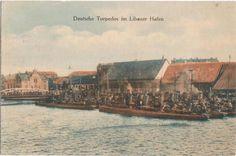 Deutsche Torpedos im Libauer Hafen. postcard 1915.