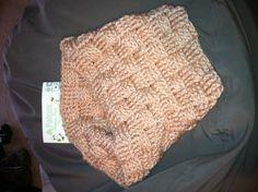 """Woven"" crochet cowl scarf. Patons beehive baby chunky."