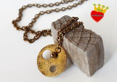 winter circle   long  chain necklace / pendant by irinimichopoulou, $35.00
