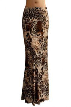 Niobe Various Printed Full Length Banded Waist Foldover Maxi Skirt Next Fashion, Cute Fashion, Plus Size Fashion, Fashion Outfits, Maxi Skirt Outfits, Dress Skirt, Maxi Skirts, Leopard Print Skirt, Gypsy Skirt