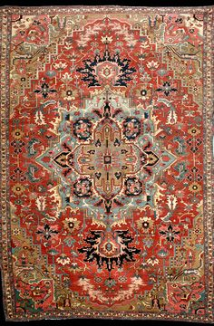 Persian Heriz Serapi rug, late 19th century
