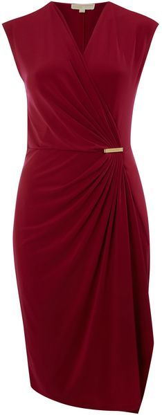 Cap Sleeve Wrap Dress with Pin