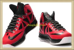 Lebron 10 For Sale PE Red Black  Red  Womens  Sneakers Lebron James 10 d72487e03d0c