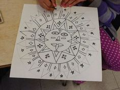 art inklings: How To Draw Aztec Sun Stones- History and Math in an art lesson