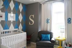 My future children's rooms will be covered in monograms and initials; this much is certain.