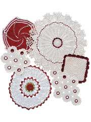 Vintage Redwork Doilies Crochet Pattern Pack
