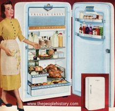 1952 Coldspot Refrigerator. Either your grandmother had one, or there was one in the basement...