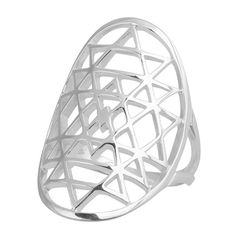 Oval Sacred Geometry Ring