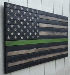 - Product Description - Shipping Info - Custom Work? The OG Thin Green Line from U May Approach The Bench, Ltd. is a custom handmade work of art, created to appear as though it was salvaged from a bur