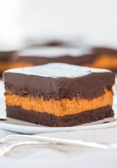 Pumpkin Cream Cheese-Filled Brownies