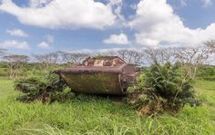 Old tank on #Tinian! Remains of heavy #worldwar2 battles.  #marianaislands #pacific For the story see site in bio for full post ------------------------------------------- Tinian is part of the Commonwealth of the Northern Mariana Islands which is a group of islands in Micronesia between Japan Palau and the Philippines. From Tinian the bombers carrying the atomic bombs which were dropped on Hiroshima and Nagasaki took off. Its an island that changed the course of history by ending World War…
