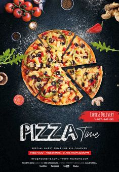 Menu Design, Food Design, Pizza Flyer, Pizza Menu, Pizza Food, Burger Restaurant, Burger Menu, Restaurant Service, Free Psd Flyer Templates