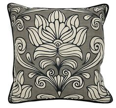 One Kings Lane - Complete Your Room - Maesta 22x22 Linen Pillow, Gray