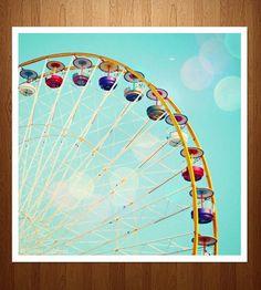 Ferris Wheel Photo Print by Sonja Caldwell Photography