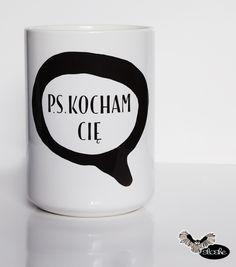 P.S. Kocham Cię, kubek ceramiczny 450/330ml