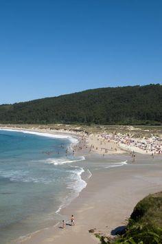 Playa de San Xurxo en Ferrol  Galicia  Spain