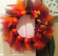 Thanksgiving tulle wreath