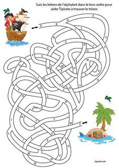 Diy Birthday Banner, Pirate Birthday, Pirate Theme, Fine Motor Activities For Kids, Kindergarten Activities, Treasure Maps For Kids, Free Board Games, Maze Worksheet, Body Preschool