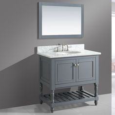 "Found it at Wayfair - Silvia 36"" Bathroom Sink Vanity Set with Mirror"
