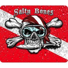 Scuba Diving Flags and Skulls