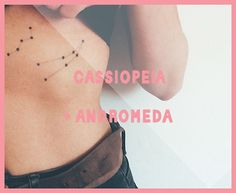 cassiopeia andromeda constellation tattoo